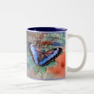 Blue Morpho Watercolor Gratitude Mug