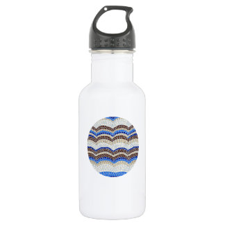 Blue Mosaic 18 Oz Water Bottle