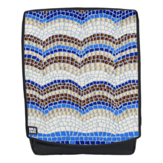 Blue Mosaic Adult Backpack