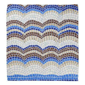 Blue Mosaic Bandana