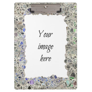 Blue Mosaic Frame Clipboards