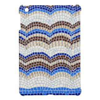 Blue Mosaic Glossy iPad Mini Case