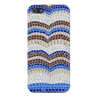 Blue Mosaic Glossy iPhone 5/5s/SE Case