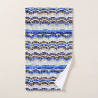 Blue Mosaic Hand Towel