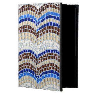 Blue Mosaic iPad Air 2 Case with No Kickstand