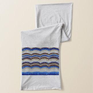Blue Mosaic Jersey Scarf