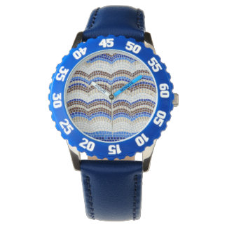 Blue Mosaic Kids' Watch
