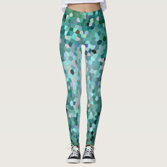 Blue Mosaic leggings