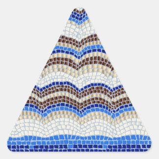Blue Mosaic Matte Triangle Sticker