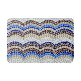 Blue Mosaic Medium Bath Mat