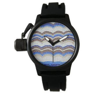 Blue Mosaic Men's Watch