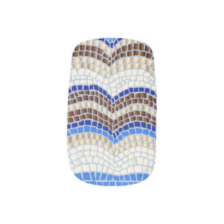 Blue Mosaic Nail Stickers