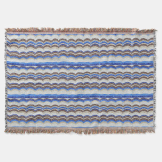 Blue Mosaic Throw Blanket