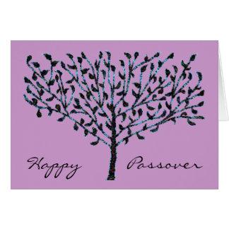Blue Mosaic Tree Passover Card
