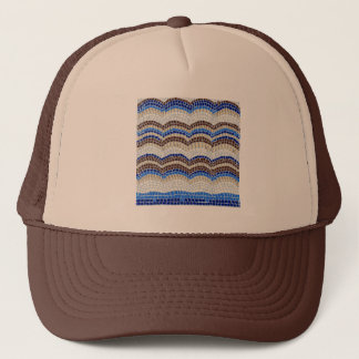 Blue Mosaic Trucker Hat