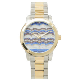 Blue Mosaic Unisex Watch