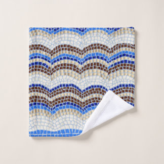 Blue Mosaic Wash Cloth