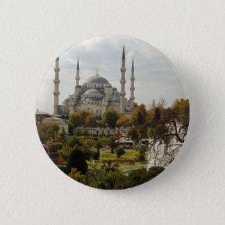 Blue Mosque 2 Inch Round Button