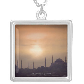 Blue Mosque and Hagia Sophia Turkey, Istanbul Silver Plated Necklace