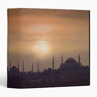 Blue Mosque and Hagia Sophia Turkey, Istanbul Vinyl Binder
