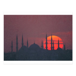 Blue Mosque and St. Sophia blend Postcard