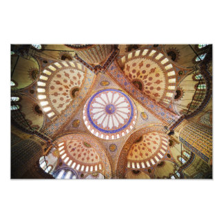 Blue Mosque Ceiling in Istanbul Photo Print