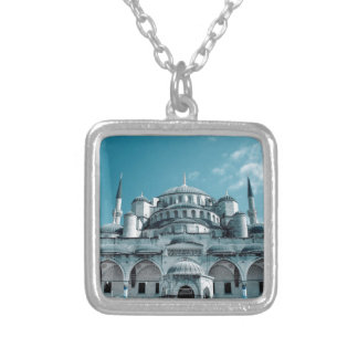 Blue Mosque in Istanbul Silver Plated Necklace