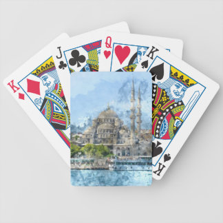 Blue Mosque in Istanbul Turkey Bicycle Playing Cards