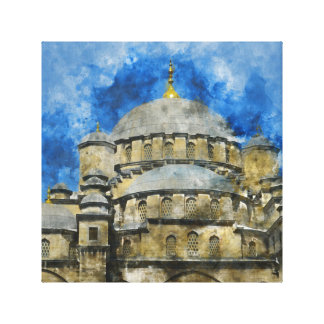 Blue Mosque in Istanbul Turkey Canvas Print