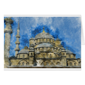 Blue Mosque in Istanbul Turkey Card