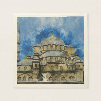 Blue Mosque in Istanbul Turkey Disposable Napkin