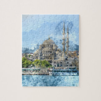 Blue Mosque in Istanbul Turkey Jigsaw Puzzle