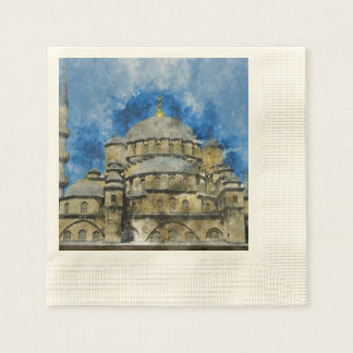 Blue Mosque in Istanbul Turkey Paper Napkins