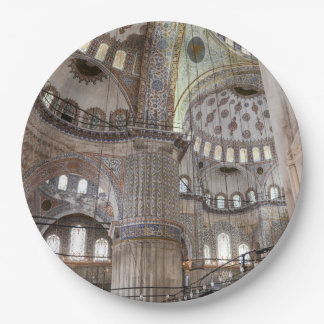 Blue Mosque in Istanbul Turkey Paper Plate