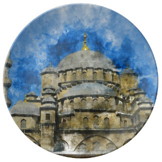 Blue Mosque in Istanbul Turkey Plate