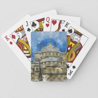 Blue Mosque in Istanbul Turkey Poker Deck