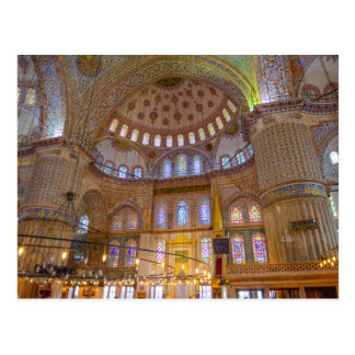 Blue Mosque in Istanbul Turkey Postcard