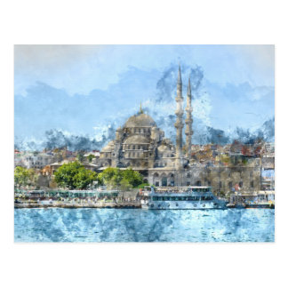 Blue Mosque in Istanbul Turkey Postcard