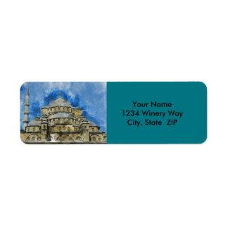 Blue Mosque in Istanbul Turkey Return Address Label