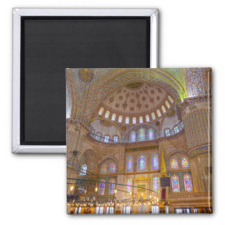 Blue Mosque in Istanbul Turkey Square Magnet