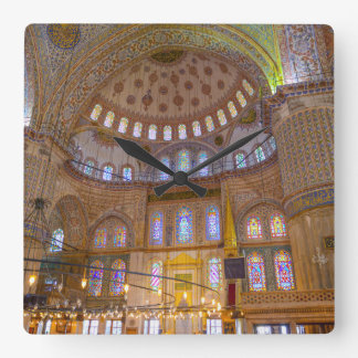 Blue Mosque in Istanbul Turkey Square Wall Clock