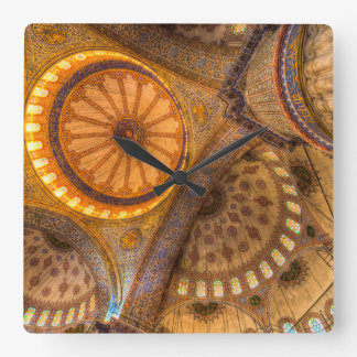 Blue Mosque Istanbul Square Wall Clock
