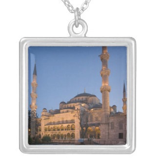Blue Mosque, Sultanhamet Area, Istanbul, Turkey 2 Silver Plated Necklace