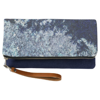Blue moss pattern clutch
