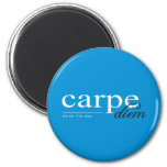 Blue Motivational Inspirational Quote 2 Inch Round Magnet