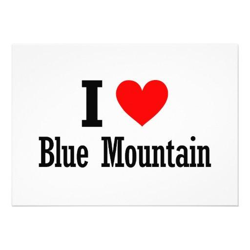 Blue Mountain, Alabama City Design Custom Invites
