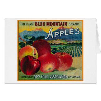 Blue Mountain Apple Crate LabelCove, OR Card
