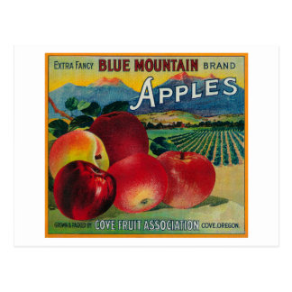 Blue Mountain Apple Crate LabelCove, OR Postcards