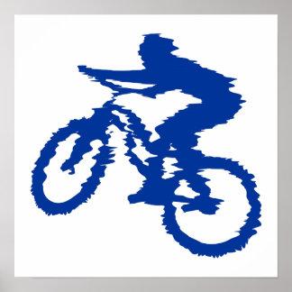 Blue Mountain Bike Print