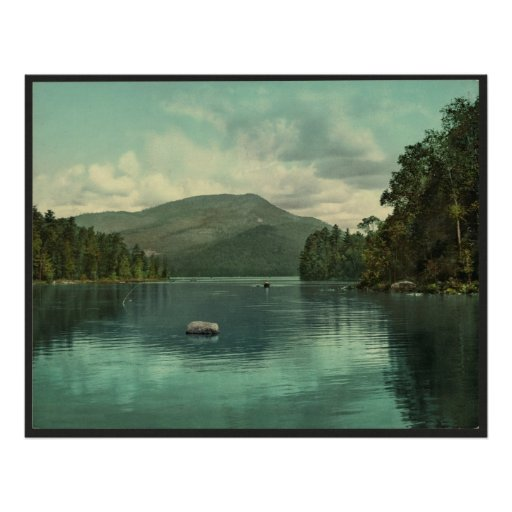 Blue Mountain from Eagle Lake, Adirondack Scene Poster